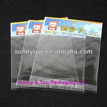 clear and printed seal adhesive cellophane bag