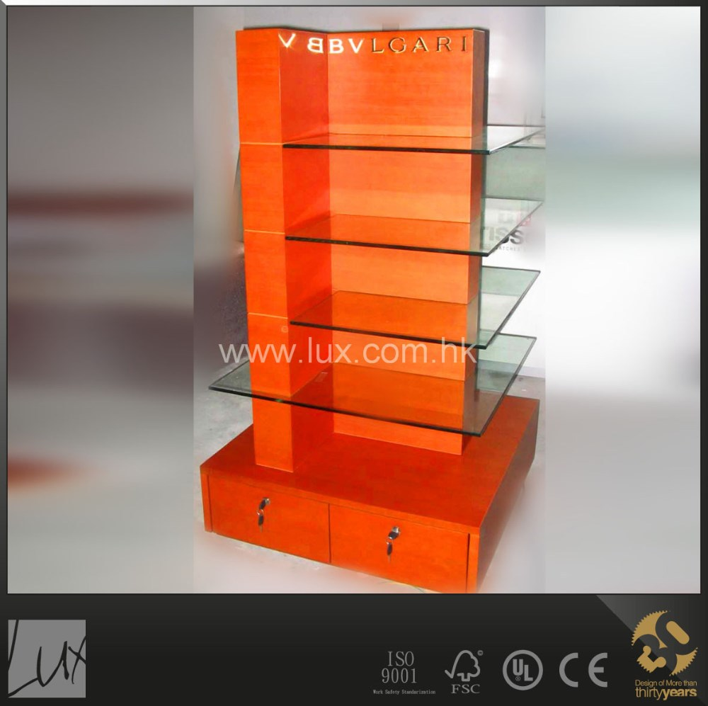 Cosmetic counter display stand for perfume