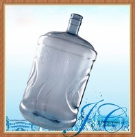 Wholesale 5 gallon jug/hygienic plastic drinking water jug