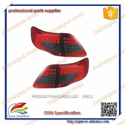 Lighting LedCar Styling LED Tail Light For Toyota Corolla 2007 2008 2009 Tail Lights led Rear lamp Turn