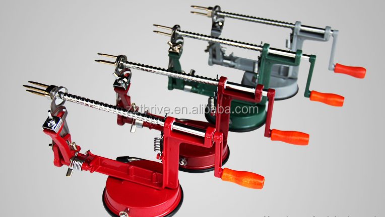 Aluminum alloy hand held apple peeler / manual apple peeler /Manual onion cutting machine