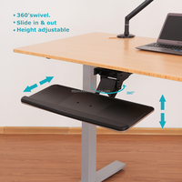 Large Space Ergonomic Under Desk Adjustable