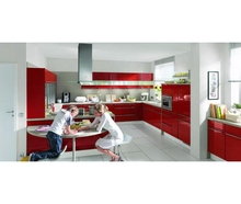 Modern Best Paint High Gloss Fashion Modern Red Lacquer Kitchen Cabinet