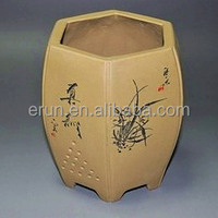 Yixing/China pottery interior flowerpot in nuerous patterns