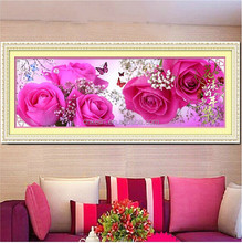 5D cross stitch Diy Diamond painting red rose home flower decoration wall sticker cross stitch diamond embroidery