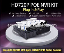 Waterproof IP67 H.264 compression 720P Wireless Network WIFI 4CH NVR Kits easy remote surveillance and control (NK402)