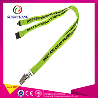 Wholesale cheap new arrival custom logo id card holder neck lanyard with safety breakaway buckles for sale