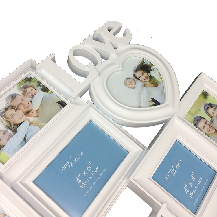 Mass production luxury home decoration family multi collage frame picture plastic photo poster frame