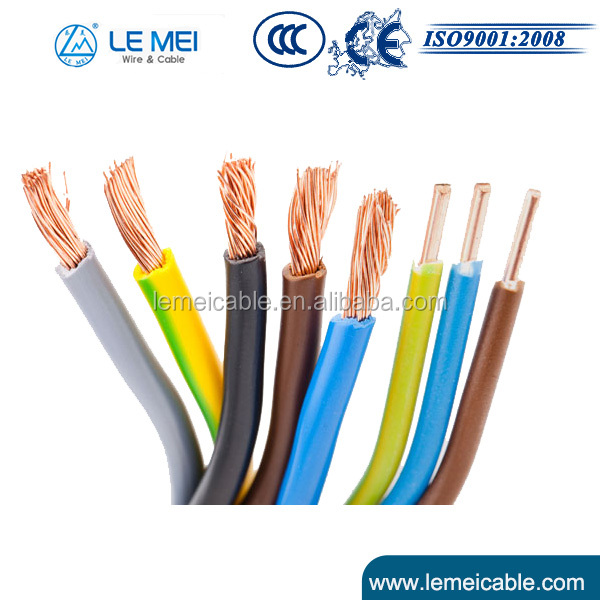Professional 450V/750V H07V 1.5mm2 1.5mm PVC Cable Electric Cable Price List