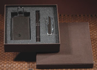 2014 Fashion promotion gift set military knife gift set&classical signature pen & key bag gift set
