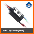 Mini capsule slip ring 12 wires without flange OD 12.5mm from senring manufactory