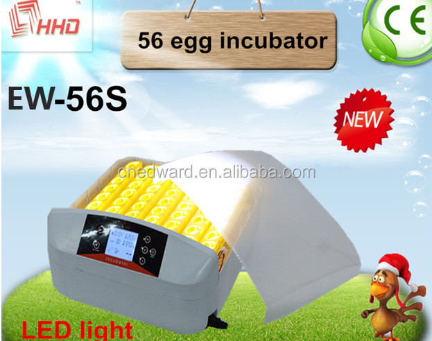 HHD Good quality holding 56 eggs capacity poultry hatcher incubator with good after-sale service
