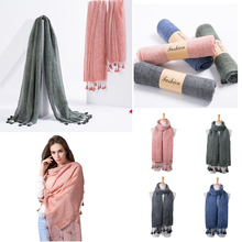 Wholesale pure color fashion fancy hijab cotton lady jersey shawl scarf