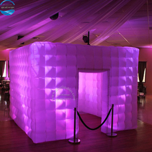 Party Rental Cube Booth Led Light Inflatable Photo Booth Tent Enclosure For Sale