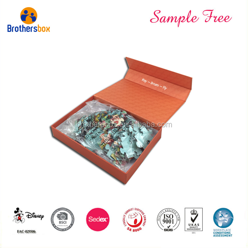 China Custom Printing Luxury Playing Educational Puzzle With Magnetic Boxes
