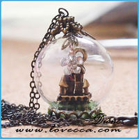 decorative clear glass balls , hollow glass ball for making jewelry, glass candle holder
