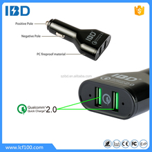 Quick charge2.0 high quality dual car charger factory hot sale usb phone charger with 48W power
