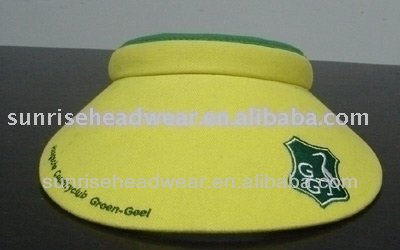 custom microfiber big sun visor embroidery logo