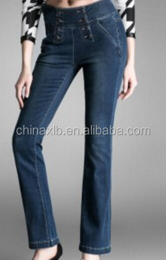 Hot Selling Woman Jeans With Denim Fabric Made In China