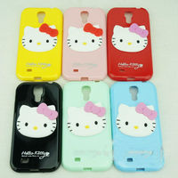 PC hard case cover cute cartoon 3d case for samsung galaxy s4 hello kitty 360 degree rotate case cover