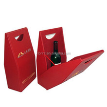 wine carrer , wine case , wine packaging box with handle