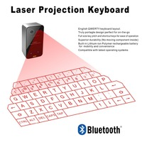 Newest design Magic Cube Wireless virtual laser bluetooth keyboard with power bank Tablet Cellphone