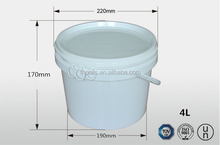 Plastic storage containers for oil paint/water paint chemical usage