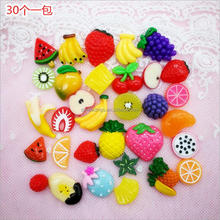 Custom 30 Pieces Slime Charms Mixed Fruit Shape Beads For DIY Slime Kit Accessories