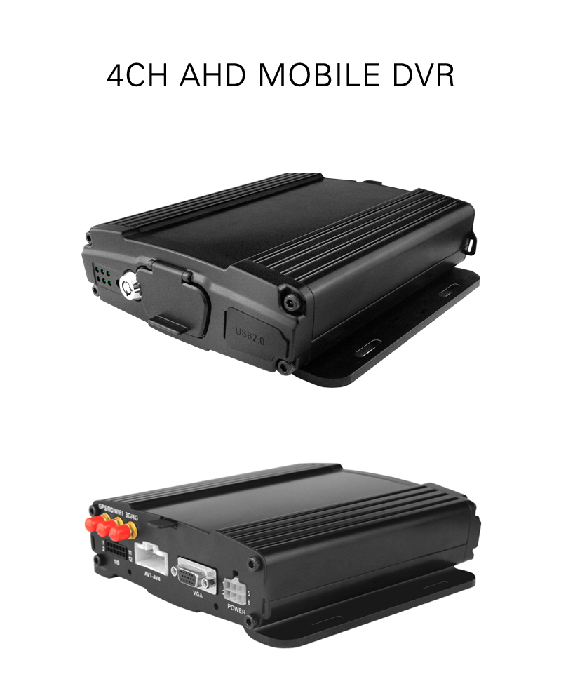 4 channel AHD 720P dual SD Mobile DVR with GPS 3G 4G WIFI optional