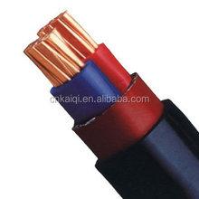 0.6/1kv copper conductor xlpe insulated pvc outer sheathed f-cv cable 3c-4mm2
