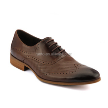 New style shoes wood grain rubber outsole fashion oxford dress shoes spanish leather shoes