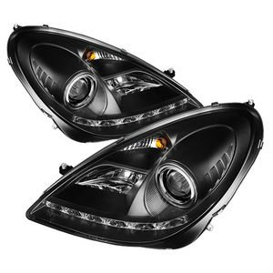 2005-2010 Mercedes Benz R171 SLK HID Type ) DRL LED Projector Headlights - Black
