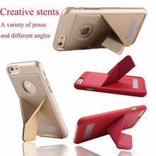 Newest PU Leather Back with Stand Holder for iPhone5 5s SE 6 6Plus 6sPlus Samsung S6 S6edge s7 s7edge Leather Stand Cases Shockp