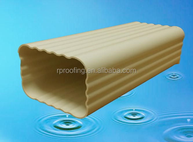 Hot selling pvc gutter system downspout,plastic rain gutters with low price