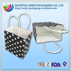 wholesale promotional boutique logo printed recyclable cheap paper shopping bags