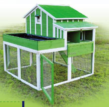 Wooden Poultry House with Run & Planter