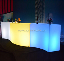 Wholesale price PE plastic illuminated night club furniture for sale