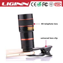 LIGINN Professional Universal Clip 8X zoom Telephoto mobile phone camera Lens for All Android IOS cell Phone
