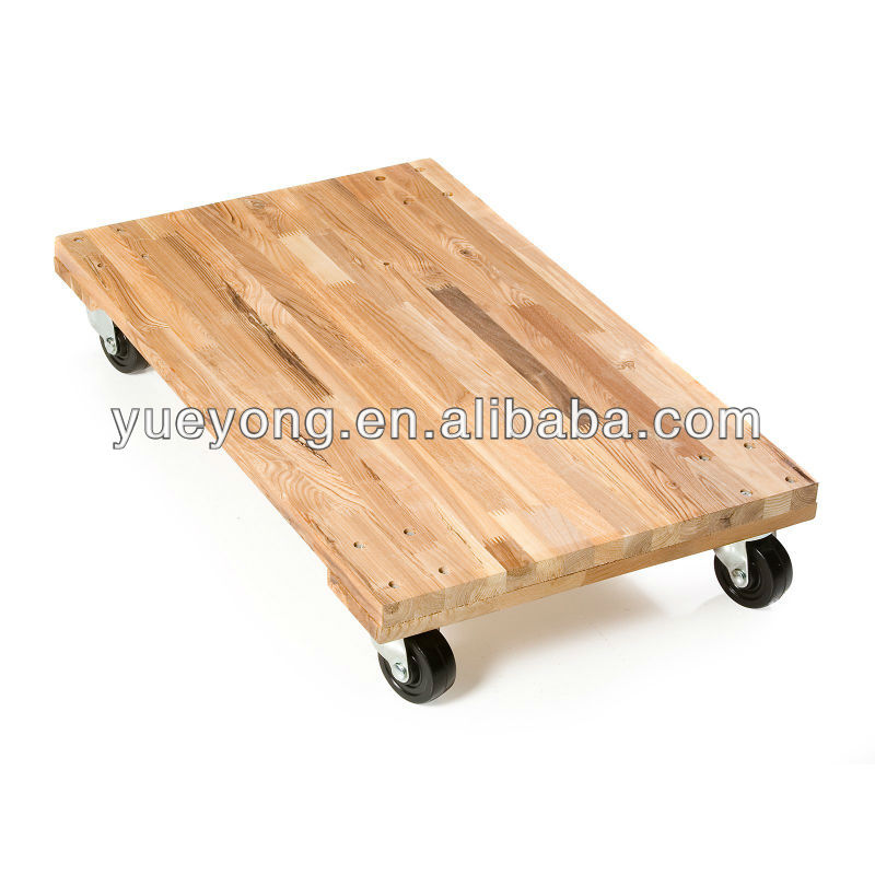 Roll Solid Deck Hard Wood Moving Dollie/furniture dollies