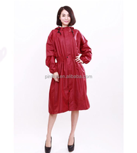 2014 fashion women rain coat girls rainwear, lightweight breathable nylon poncho Waterproof Rainsuit