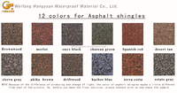 Colorful Asphalt roof shingles roofing materials made in China