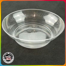 Clear Flower Coated Round Plastic Bowl