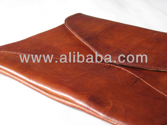 leather clutch Sleeve Case in Leather 15 Inches Over size Clutche