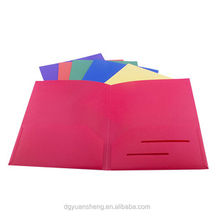simple blue pp presentation file folder with 2 holders from China