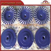 Aluminum Double Row Grinding Cup Wheel For Cutting Concrete