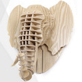 Origional wood elephant head avatar for wall decoration