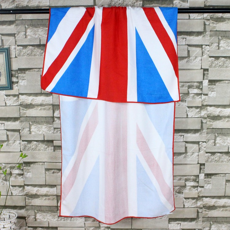 cotton printied dish towel wholesale flag kitchen towel/tea towel