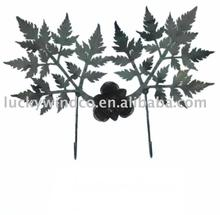 leaf decor flat metal single hook coat hook
