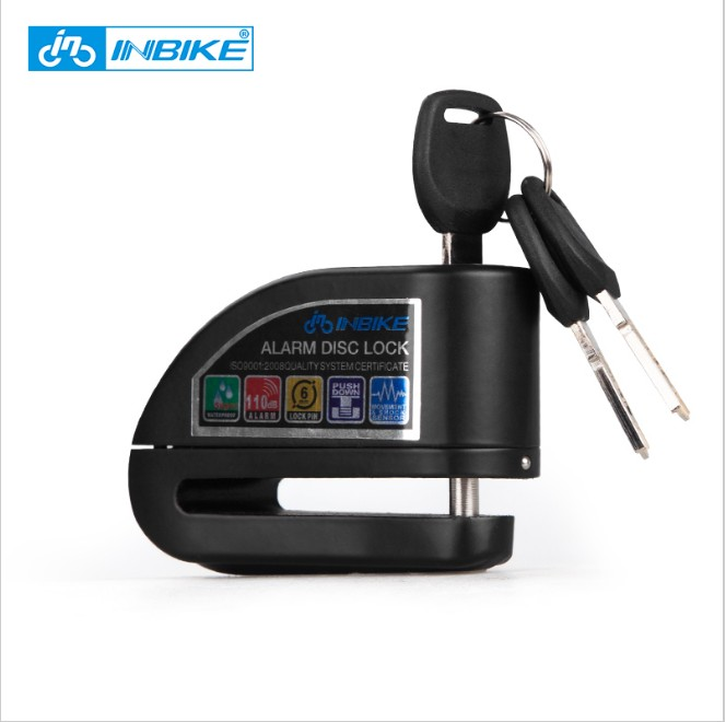 INBIKE Bike Alarm Disc Lock Bicycle Brake Lock Safety Security Anti Theft MTB Motorcycle Lock
