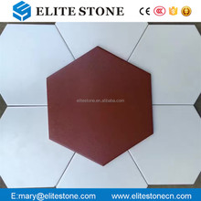 260*300mm hexagonal ceramic terracotta red clay brick floor tile